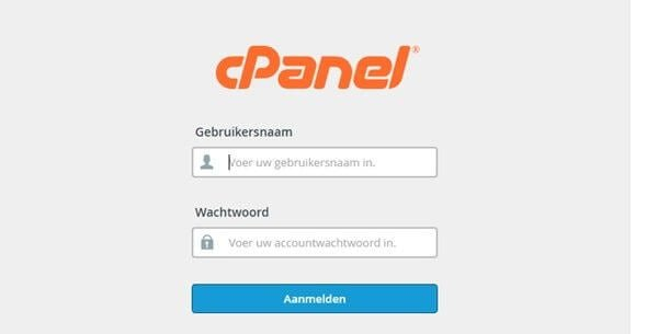 cPanel-log-in