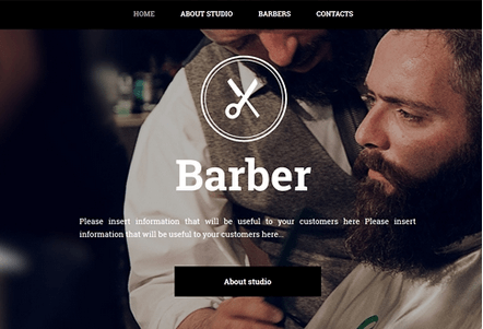 Site Builder Barber Template
