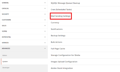 Magento 2 Mail Sending Settings